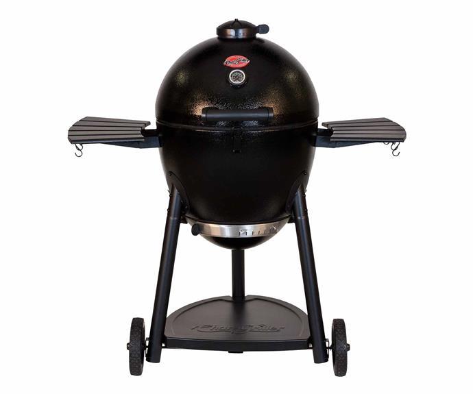 "'Akorn Kamado Kooker' barbecue, $549, [Bunnings](https://www.bunnings.com.au/|target=""_blank""|rel=""nofollow"")."
