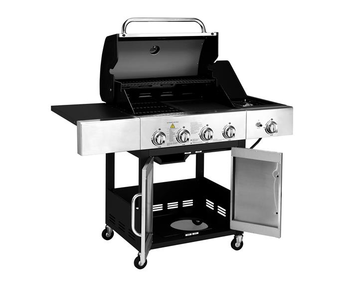 "Komodo 4-burner hooded barbecue with side burner, $359, [Kogan](https://www.kogan.com/au/|target=""_blank""
