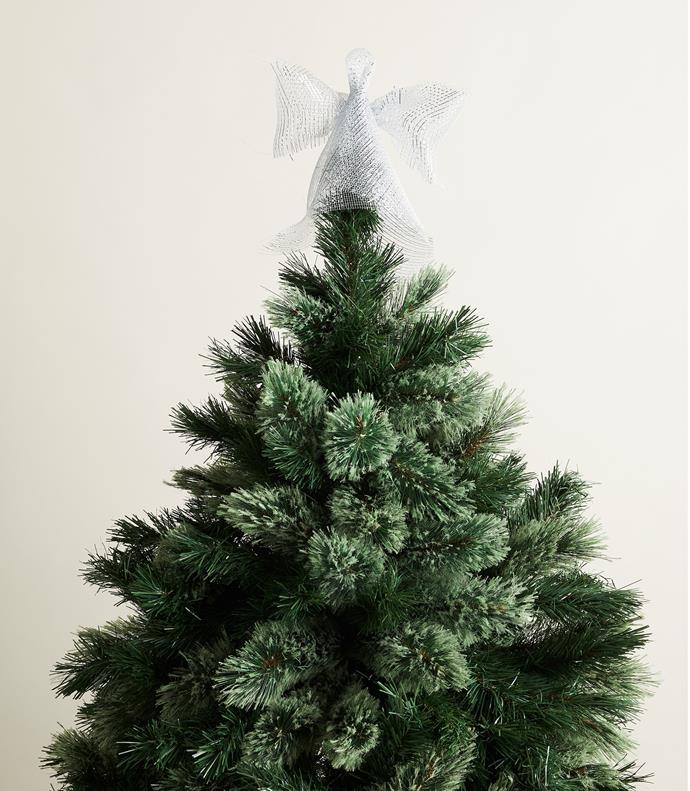 "Aspen 152cm Christmas tree with cashmere tips (used throughout), $199, [David Jones](https://www.davidjones.com/Products/22591119/Aspen-Christmas-Tree-with-Cashmere-Tips-152cm.html|target=""_blank""