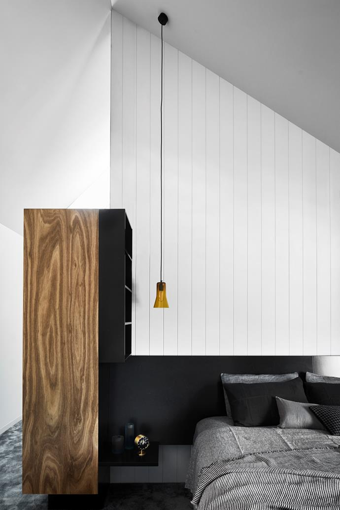 Natural timbers infuse the home with warmth.