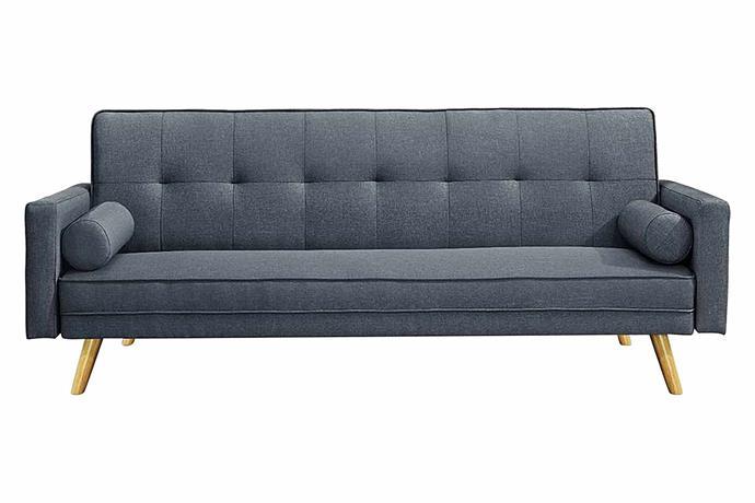 "Burgh 3 seater sofa bed, $379, [Zanui](https://www.zanui.com.au/Burgh-3-Seater-Sofa-Bed-170908.html|target=""_blank""|rel=""nofollow"")."