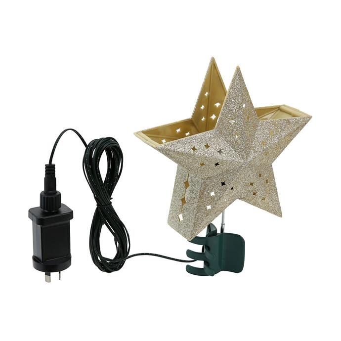 "Low-voltage Projection Star tree topper, $12, [Kmart](https://www.kmart.com.au/product/low-voltage-projection-star-tree-topper/2739336|target=""_blank""