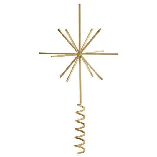 "Ferm Living Christmas brass tree top star, $99, [Leo & Bella](https://leoandbella.com.au/shop/ferm-living-christmas-brass-tree-top-star/|target=""_blank""