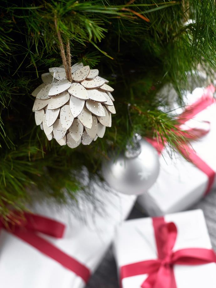Decorations from the Australian House & Garden range for Myer adorn the tree.