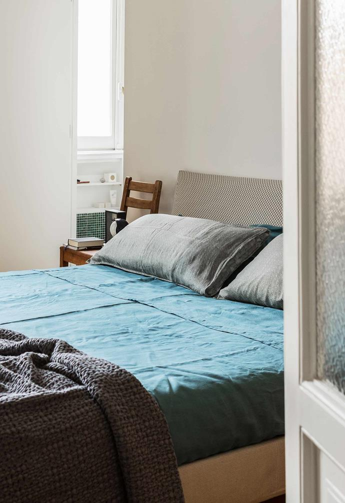 **Bedroom** The bed is dressed in linen by Society Limonta.