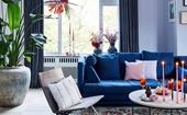 Bright colours and florals fill this home with Christmas cheer