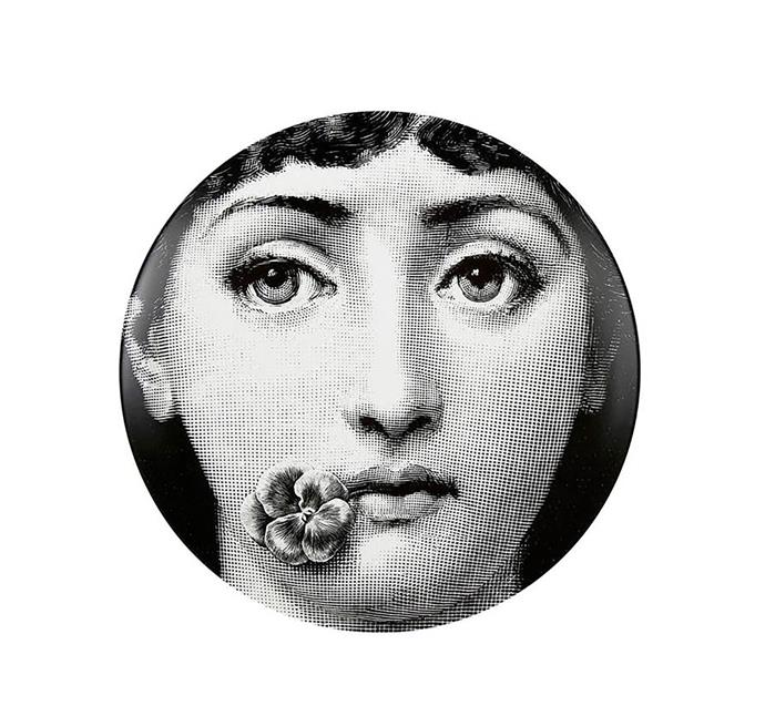 """Tema e Varazioni No.137 wall plate by Piero Fornasetti, $243, at [Macleay on Manning](http://www.macleayonmanning.com//