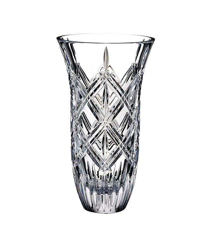 """Marquis by Waterford Lacey vase, $159, from [Waterford Crystal](https://www.waterfordcrystal.com.au/marquis-by-waterford-lacey-vase-23cm.html/