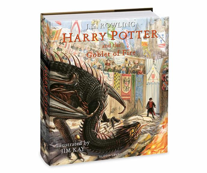 """Harry Potter and the Goblet of Fire: Illustrated Edition book by JK Rowling, $49.99, [Dymocks](https://www.dymocks.com.au/
