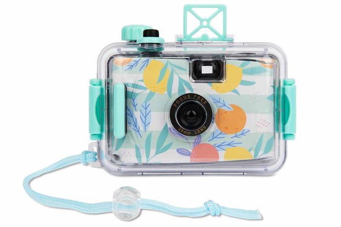 "Underwater camera in Dolce Vita, $26.95, [Sunnylife](https://www.sunnylife.com.au/|target=""_blank""|rel=""nofollow"")."