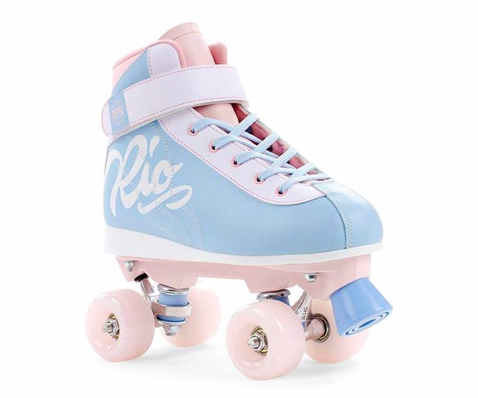 "Rio 'Milkshake Cotton Candy' roller skates, $179, [Skateschool Skateshop](https://www.skatescool.com.au/|target=""_blank""|rel=""nofollow"")."