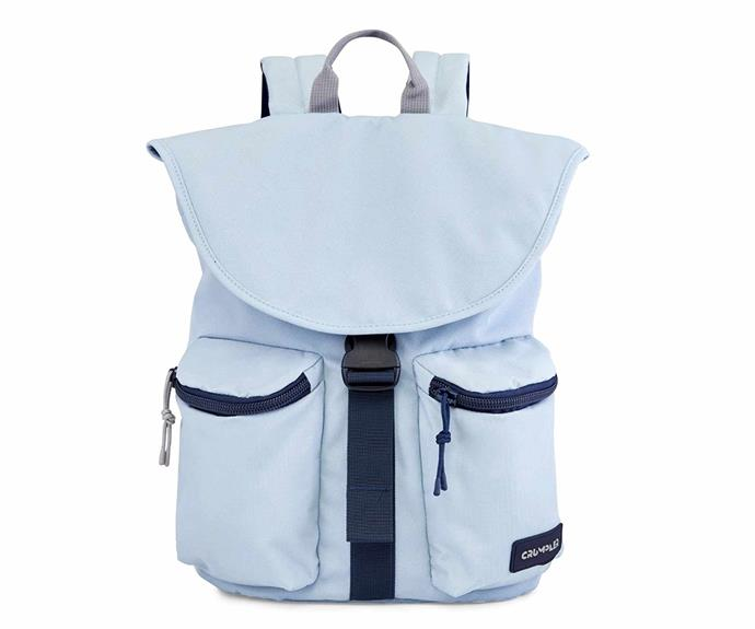 """Crumpler 'Extrovert' backpack in Flint, $129, [The Iconic](https://www.theiconic.com.au/