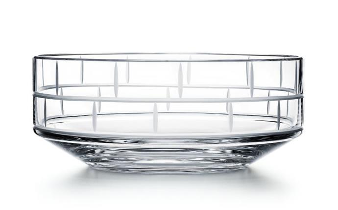 """Modern Bamboo crystal glass round bowl, $395, from [Tiffany & Co.](https://www.tiffany.com.au/accessories/tableware/modern-bamboo-crystal-glass-round-bowl-63308404//