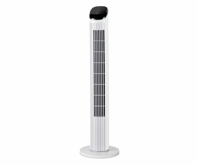 "Kambrook 87cm touch display tower fan, $89.95, [Harvey Norman](https://www.harveynorman.com.au/kambrook-87cm-touch-display-tower-fan.html|target=""_blank""|rel=""nofollow"")."