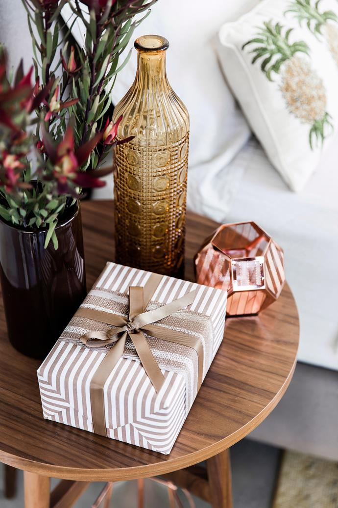 Keep a few beautifully wrapped gifts on hand for unexpected guests.