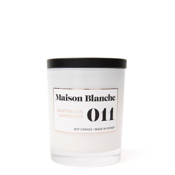 "Australian Christmas candle, $36, [Maison Blanche](https://www.maisonblanche.com.au/011-australian-christmas-medium-candle|target=""_blank""