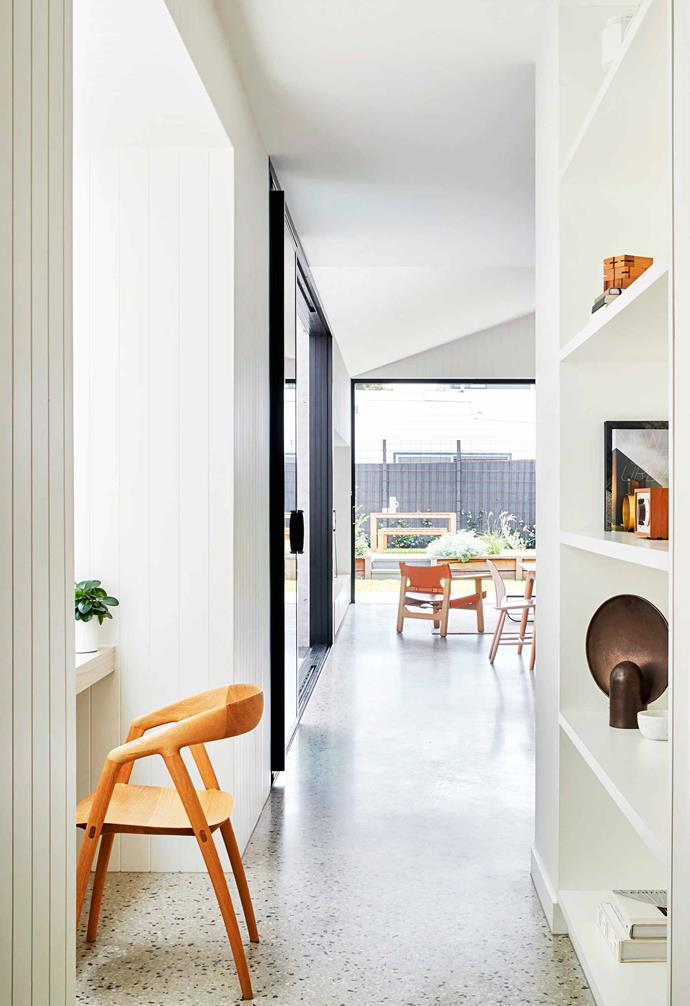 """**Study nook** Small but perfectly formed, this neat area receives an abundance of natural light. The walls, as elsewhere, are in [Dulux](https://www.dulux.com.au/