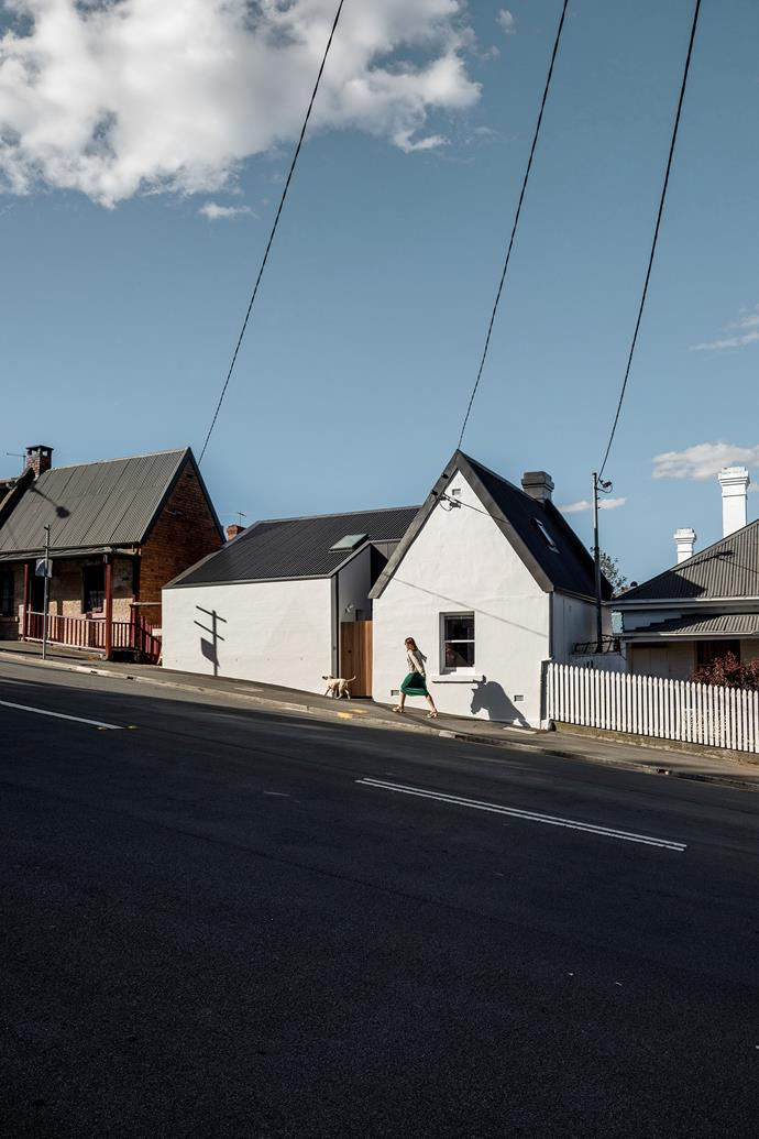 Milkman's Cottage sits on a heritage street in the heart of Hobart.