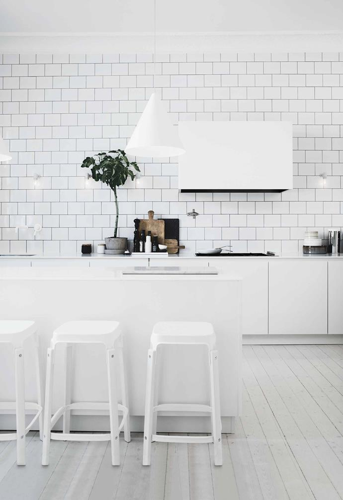 """We entertain a lot, plus all the children have friends over, so most of the time the apartment is full of people and life,"" says Lotta.<br><br>**Kitchen** A pale [timber floor](https://www.homestolove.com.au/timber-floors-that-make-a-style-statement-2880