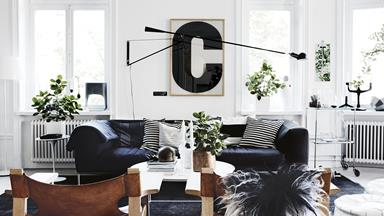 A monochrome apartment in Stockholm filled with clever style ideas