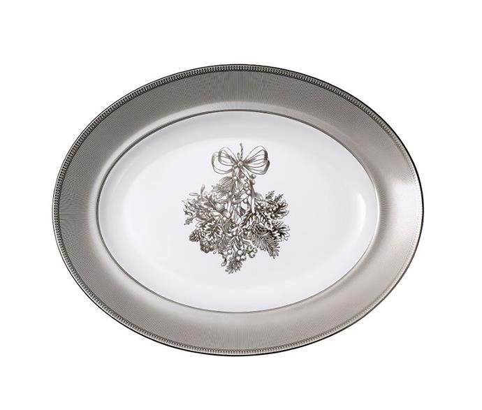 "Christmas Oval Platter 35cm, $199, from [Wedgwood](https://www.wedgwood.com.au/christmas-oval-platter-35cm.html/|target=""_blank""|rel=""nofollow"")"