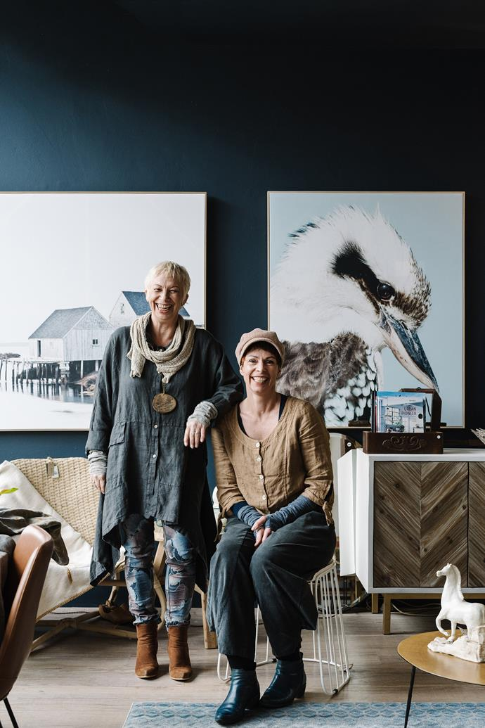 Burnie native Karen (left) co-owns the eclectic Cocoon Designs with Linda.