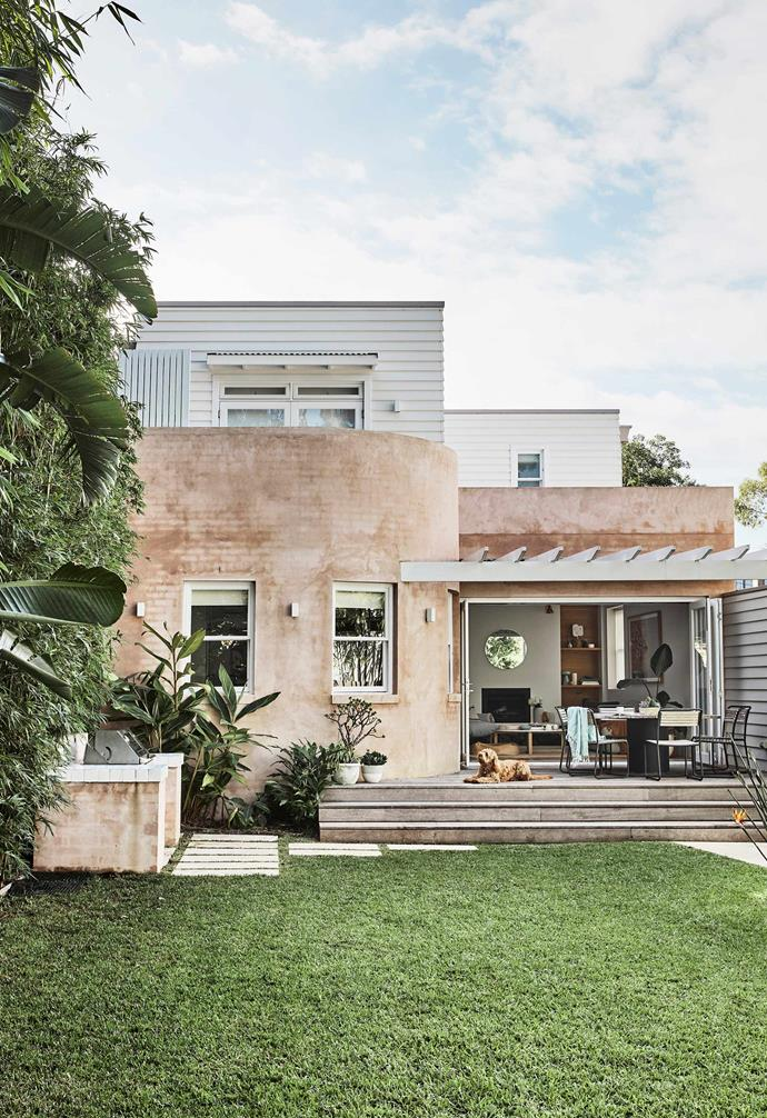 """**Garden** """"Our backyard is to die for,"""" says Leah. """"We never imagined finding a home in this area with such a big grassy area and pool."""" Table and chairs, [Eco Outdoor](https://www.ecooutdoor.com.au/ target=""""_blank"""" rel=""""nofollow"""")."""