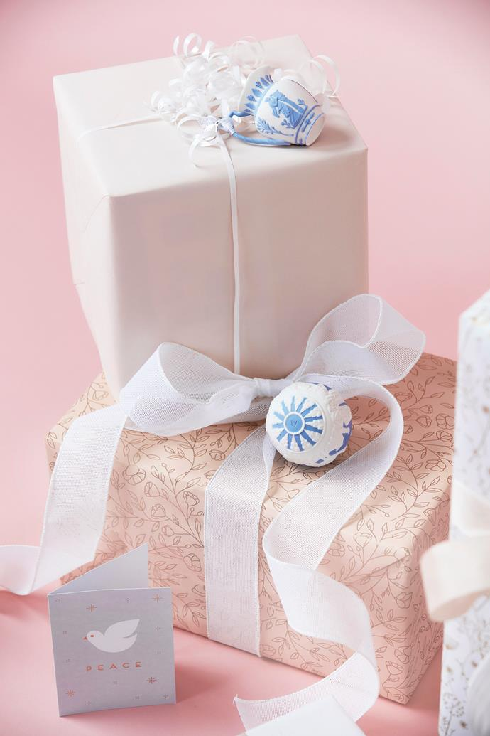 "Light pink wrapping paper, [Vandoros Fine Packaging](https://www.vandoros.com.au/|target=""_blank""