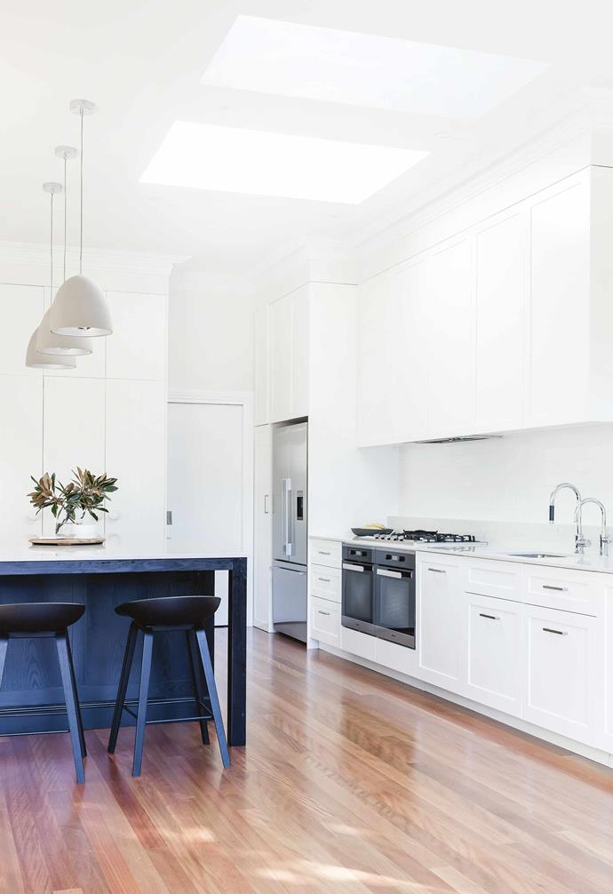 """The renovation then snowballed and when Harper was three months old, we decided to tackle the kitchen, laundry and downstairs bathroom. We ended up changing everything from the [external paint colours](https://www.homestolove.com.au/home-exterior-ideas-3998
