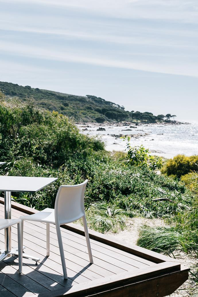 The view from the dining deck at Bunkers Beach House.