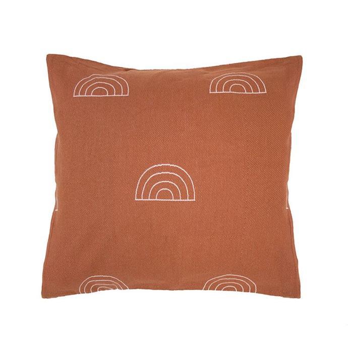 "Arco European pillowcase, $36.95, [Bambury](https://bambury.com.au/arco-european-pillowcase|target=""_blank""|rel=""nofollow"")"