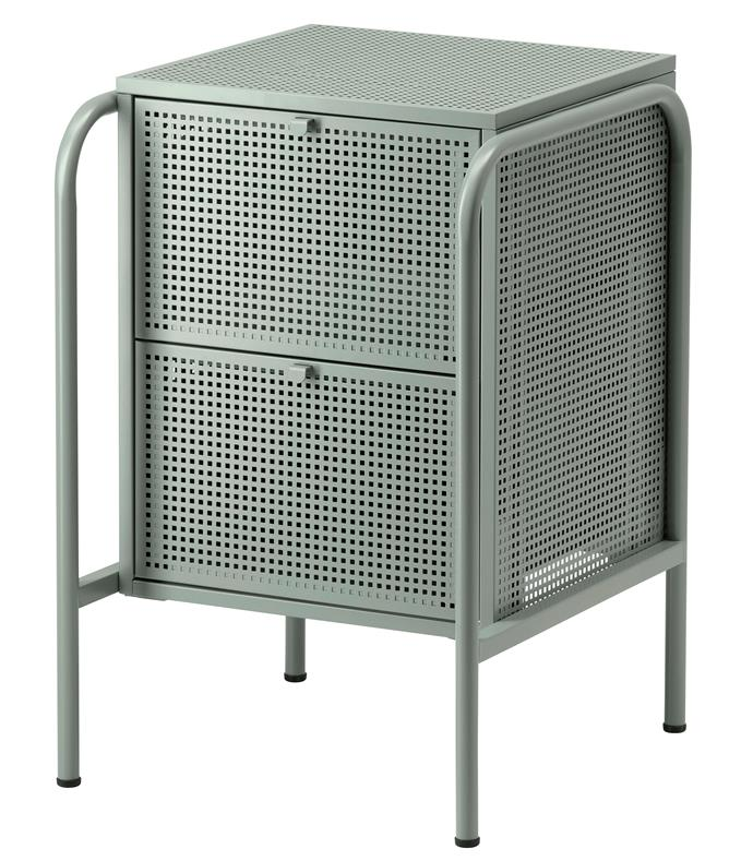 "Nikkeby chest of drawers in Grey-Green, $99, [Ikea](https://www.ikea.com/au/en/catalog/products/70439455/|target=""_blank"")"