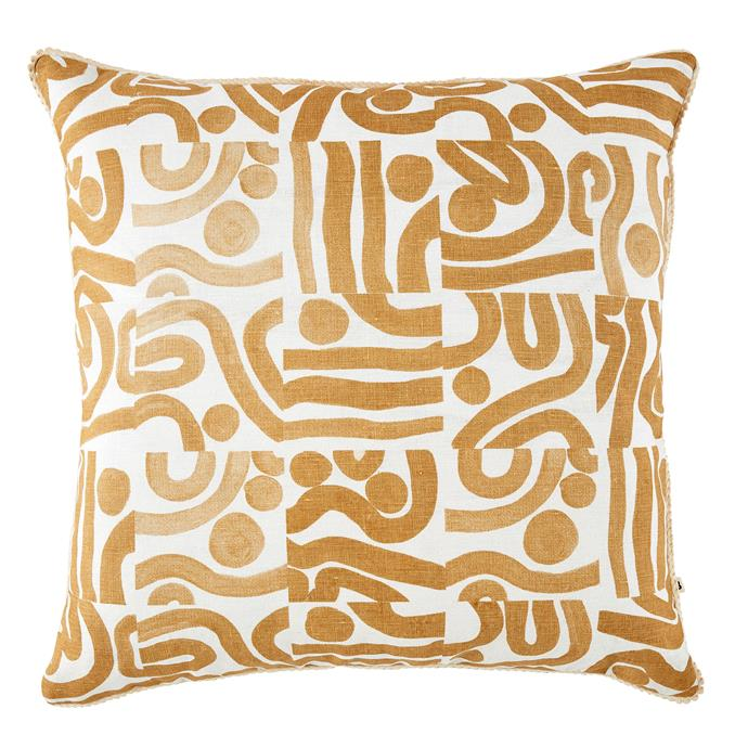 "Ocean cushion in Wheat, $200, [Bonnie and Neil](https://bonnieandneil.com.au/collections/cushions-1/Latest|target=""_blank"")"