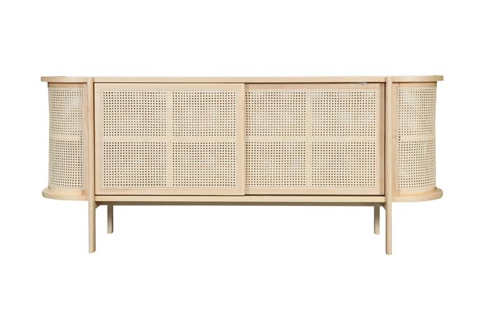 """Atelier 2+ 'Cane' low cabinet in Natural, $3150, [Trit](https://www.trithouse.com.au/