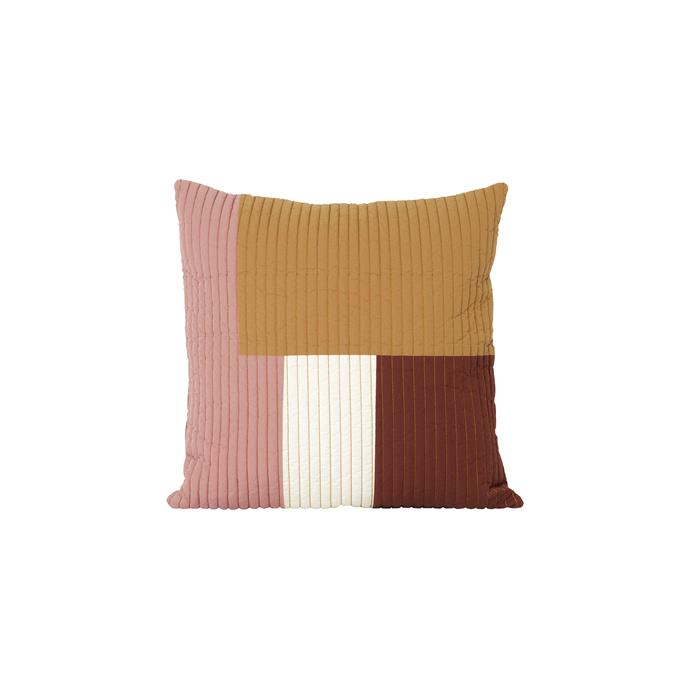 "Ferm Living 'Shay' quilt cushion, $149, [Arrival Hall](https://arrivalhall.com.au/products/ferm-living-shay-quilt-cushion-50x50?_pos=13&_sid=d0d4dbbd5&_ss=r|target=""_blank"")"