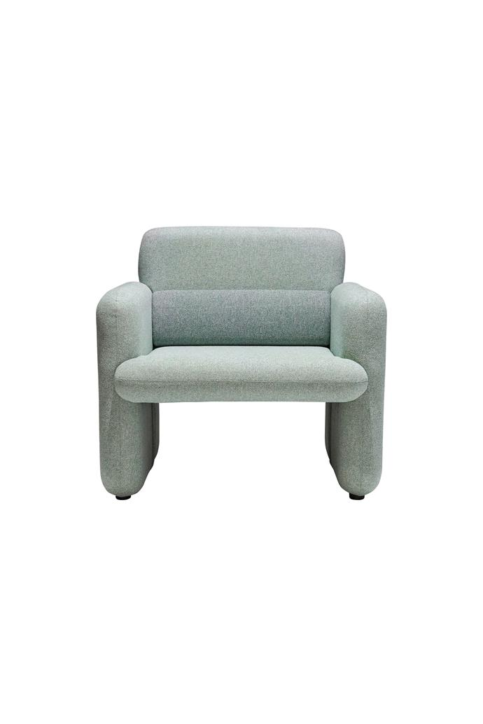 "Hugo armchair in Green/Sage, $449, [Vorsen](https://www.vorsen.com.au/collections/arm-chairs/products/hugo-arm-chair?variant=31365241110646|target=""_blank""