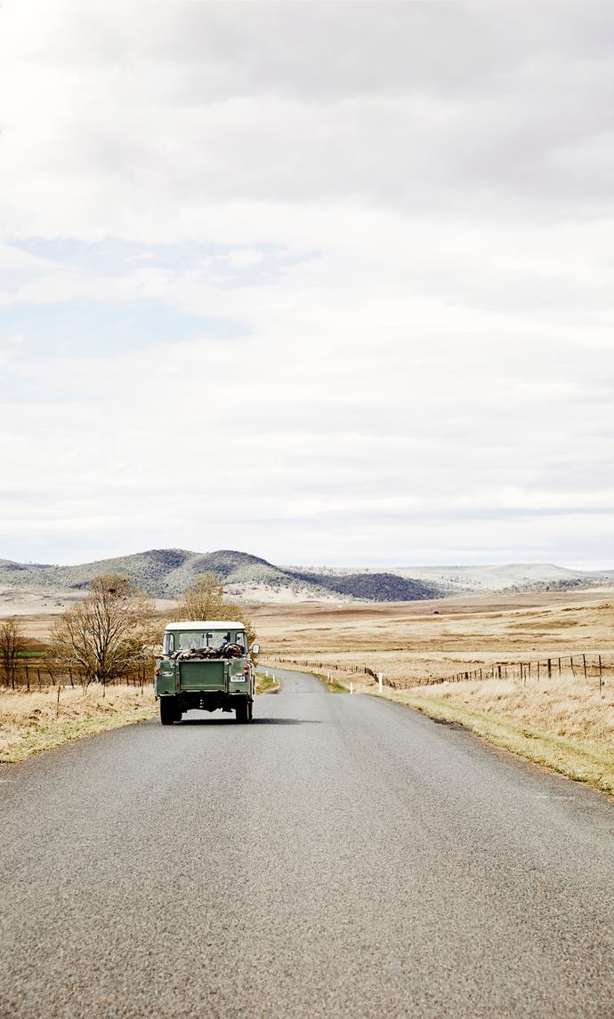 On the road into Cooma.