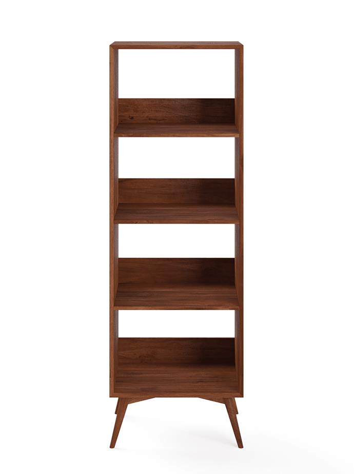 """For those obsessed with mid century-style, the Frank open bookshelf from Brosa is a winner. It's perfect as a standalone piece or positioned with another for a style statement. <br> Frank open bookshelf, $699, available at [Brosa](https://www.brosa.com.au/products/frank-open-bookshelf?SKU=SHLFRK140NAT&id=&utm_campaign=6762695160&utm_source=google&utm_medium=cpc&utm_content=388940757086&utm_term=&adgroupid=79803406256&gclid=CjwKCAiAx_DwBRAfEiwA3vwZYiF_4X11kkrtS3ZppYGx8UMCz_TXPMMTNFYjHneWGBPzO4Plk18LtxoCghYQAvD_BwE/