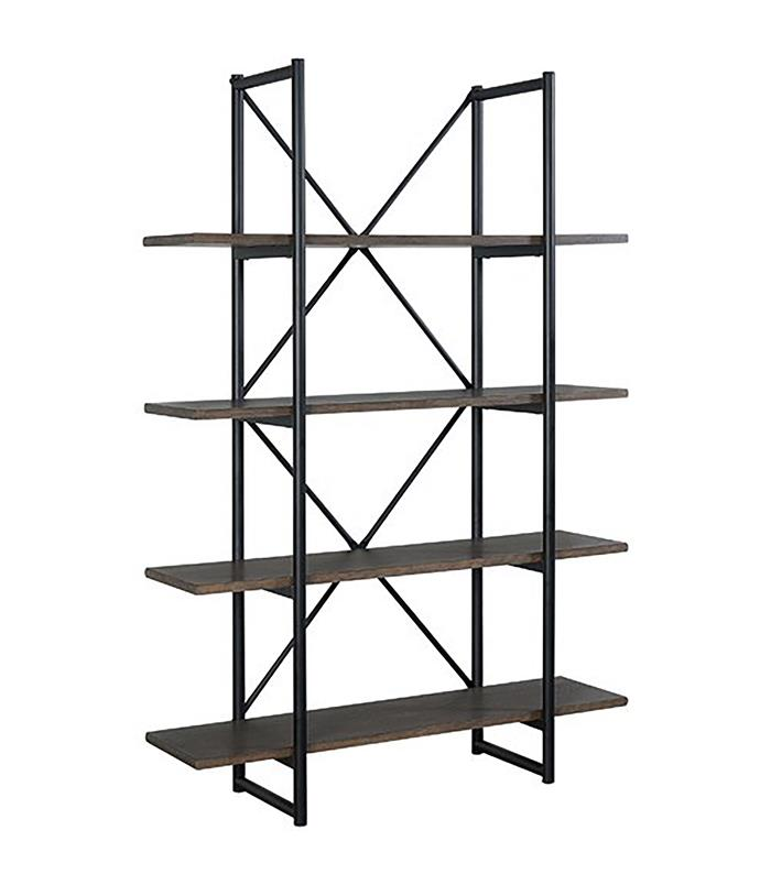 """This sleek unit from Temple & Webster features a black metal support structure that gives it an industrial aesthetic. <br> Odessa industrial shelving unit, $429, available at [Temple & Webster](https://www.templeandwebster.com.au/Odessa-Industrial-Shelves-IWODINSH-TMPL1100.html?refid=GPAAU447-TMPL1100&device=c&ptid=738004076784&gclid=CjwKCAiAx_DwBRAfEiwA3vwZYiBDUBFzv4GVRI67sL106vG2JdIlQb7oiylGKgdiK09nie2h_sXR8hoCBvMQAvD_BwE/