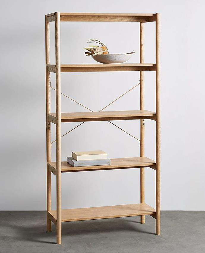 """At just $129 this simple yet stylish bookshelf is a steal. It's simplicity makes it versatile enough for any space.  <br> Akira 5 tier shelf, $129, available at [Target](https://www.target.com.au/p/akira-5-tier-shelf/62852937/