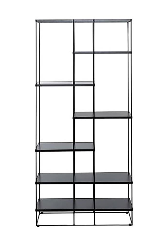 "Designed in a chic black hue with a steel frame this six shelf bookshelf is both industrial and minimalist in it's design.  Stacks 6 shelf bookshelf in black, $599, available at [Freedom](https://www.freedom.com.au/furniture/living-storage/all-living-storage/23932432/stacks-6-shelf-bookshelf-black?gclid=CjwKCAiAx_DwBRAfEiwA3vwZYti60rBDdl9Xq5FrHKmEFtPNXuljHRNMuSBigv8xLqZOI5ruuIWcahoCZbIQAvD_BwE&gclsrc=aw.ds/|target=""_blank""|rel=""nofollow"")"