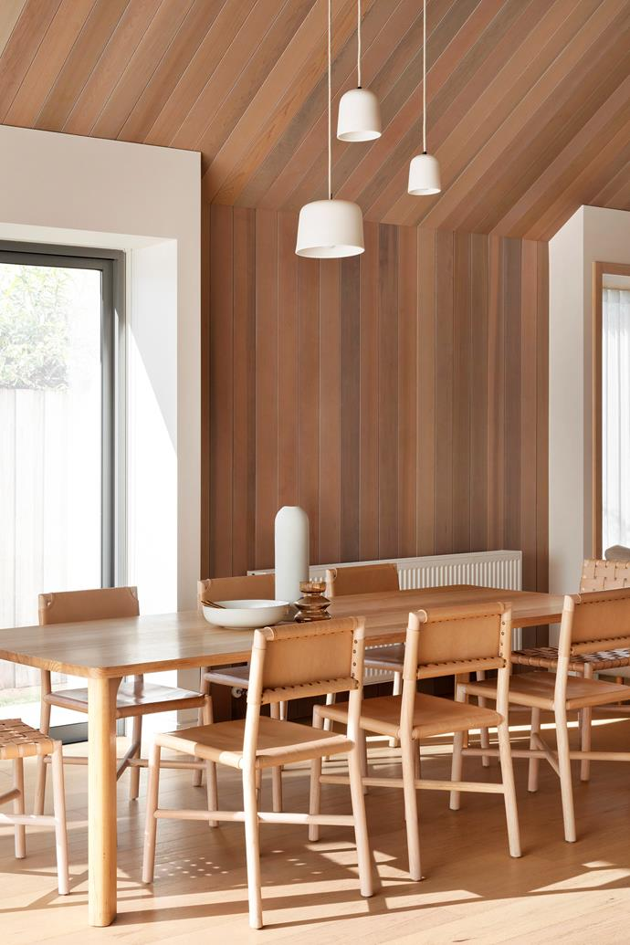 "Leather and timber dining chairs from [GlobeWest](https://www.globewest.com.au/|target=""_blank""