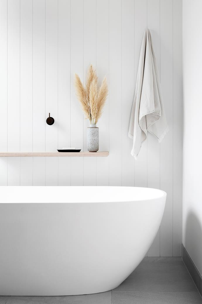 The main bathroom is designed for relaxation and rejuvenation, with the Kado 'Lussi' bath the hero.