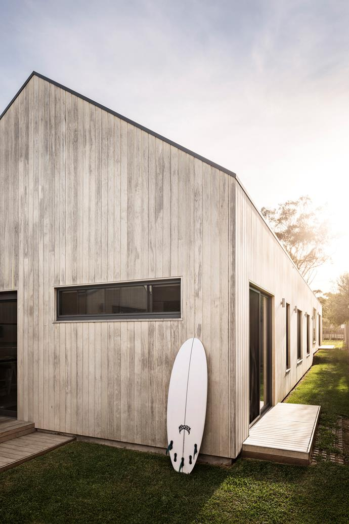 "The home's architecture takes its cues from Scandinavian design and [coastal homes in New Zealand](https://www.homestolove.com.au/contemporary-timber-farmhouse-in-new-zealand-13767|target=""_blank""