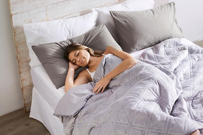 Glass Bead Weighted Blanket, $89.99.