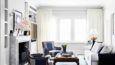 An Art Deco apartment gets a Hamptons-style makeover
