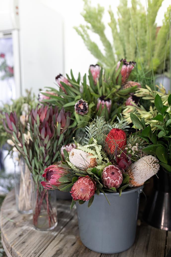 Stop in to Rhubarb & Rosie for fresh flowers.