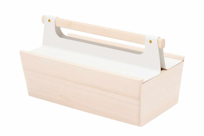 "Hartô 'Louisette' tool box in White, $169, [Trit](https://www.trithouse.com.au/|target=""_blank""|rel=""nofollow"")."