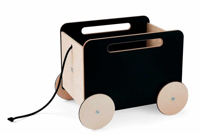 "Ooh Noo storage toy boxes on wheels in Blackboard, $249.95, and White, $239.95, [Hello Little Birdie](https://www.hellolittlebirdiestore.com.au/|target=""_blank""