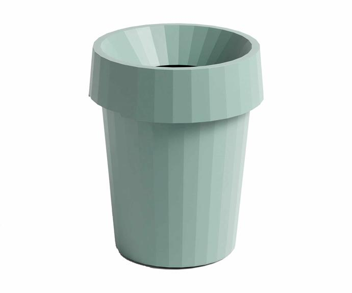 "Shade bin in Dusty Green, $85, Hay. 14 Oyoy round storage box in Blue, $39, [Leo & Bella](https://leoandbella.com.au/|target=""_blank""